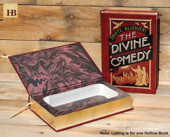 Book Safe - The Divine Comedy - Leather Bound Hollow Book Safe