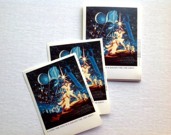 Star Wars ex libris / bookplate stickers. 15 self-adhesive plates. Lucasfilm 1996. Darth Vader. Princess Leia