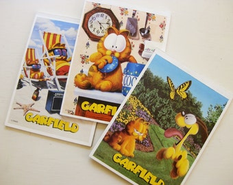 Three vintage Garfield stationery pads. Illustrator Jim Davis. Odie the dog.Vintage Mead stationery