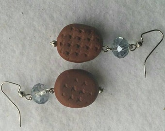 Lt. Blue and Brown Earrings No. 223