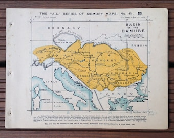 Map of the Basin of the Danube