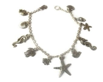 One-Of-A-Kind Recycled Nautical Charm Bracelet