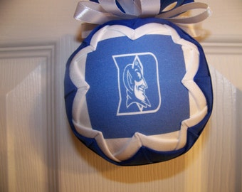 Duke University/ Blue Devils Quilted Ornament