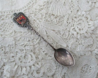 Real silver spoon enamel edam