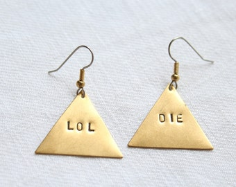"Dangling earrings. ""Bad Mood"" - triangle 2"