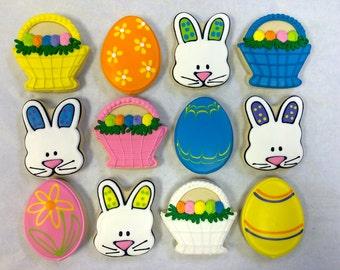 Easter Cookies, Easter Egg Cookies, Easter Bunny Cookies, Basket Cookie Favors, Best Easter Cookies, Cute Easter Cookie Favors, Easter Gift