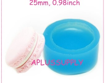 GYL148 25mm Macaron Mold Silicone Flexible Push Mold - Miniature Food, Sweets, Jewelry, Charms (Clay Fimo Epoxy Fondant)