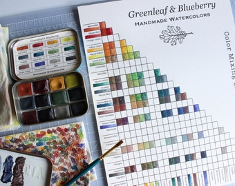PRINTABLE Greenleaf Blueberry Blank Color Mixing Chart