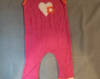 Baby  Girl  Yoga  Pink Romper Harem Pants 1-2 yr old
