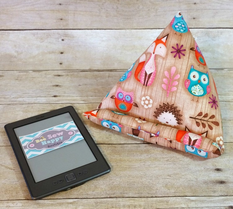 Owl Tablet Stand IPad Pillow Holder for by BeeSewHappyBoutique