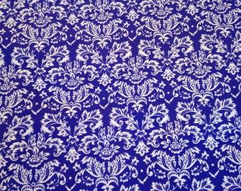Purple damask fabric by the yard - petite damask - purple and white fabric - purple and white damask - #15206