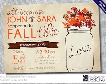 Rustic Fall Engagement Party-Digital File
