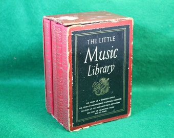 Vintage The Little Music Library -  Four Volume Bounded Set in Case