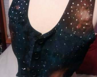 Hand painted one of a kind galaxy vest