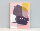 """A3 or 11x14"""" Art Poster, Abstract Art, Abstract 95 - Winter Life - Blue or Pink"""