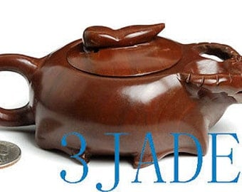 Hand Carved Natural Muyu Stone Teapot / Tea Pot -N001066