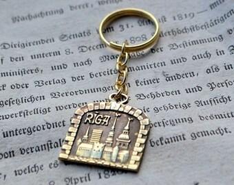 Latvian pendant  RIGA  for key//Latvian  jewelry//Bronze  pendant//Key pendant//Latvian pendant//Key//
