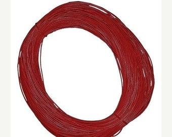 On Sale NOW 25%OFF One Meter (40 inches) 4mm Genuine Greek Leather Cord Red