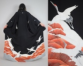 Silk Flying Crane Tomesode Kimono