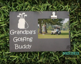 Golf Gifts, Grandpa Golf Gift, Golf Sign, Photo Clip Frame, Grandpa Gift
