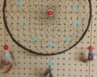 Dream catcher  hand crafted wall hanging , wall decor.