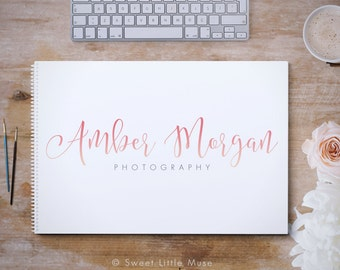 Photography logo - calligraphy logo design - handwritten style logo - premade photography logo and watermark