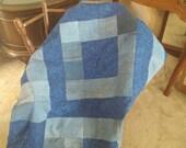 Denim and fleece baby quilt