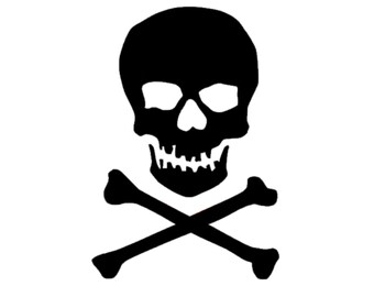 Skull and Crossbones Decal | Skull Decal | Crossbones Sticker | Vinyl Decal | Skull and Crossbones Decal |Skull and Crossbones Sticker
