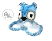 Blue Berry Owl Hat Made to Order