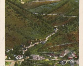 Idaho Springs Colorado Vintage Postcard