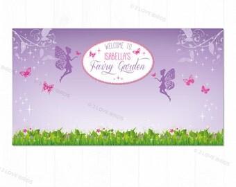 Garden Fairy Printable Backdrop