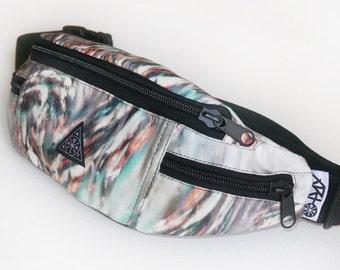 Fanny Bag, Fanny Pack, Bum Bag, Hip Bag, Hip Pack Ethereal Color Belt Bag Adjustable Strap Handmade