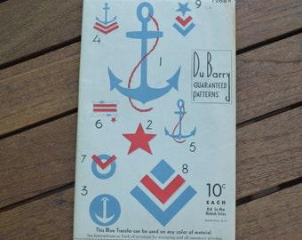 1930's Du Barry Nautical Transfer Patterns 1268B
