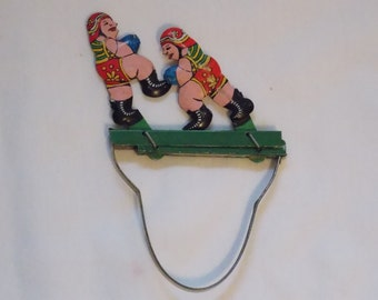 Old Hand Held Vintage Boxing Toy