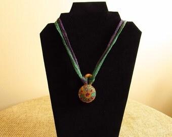 Go Goa Polymer Clay Summer Pendant Necklace