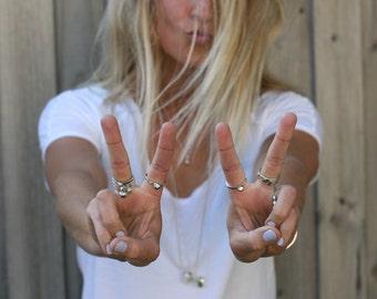 Silver Rock Rings