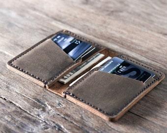Wallet, Leather Wallet, Personalized Leather Wallet, Front Pocket Slim Design, Minimalist Credit Card Wallet, Mens Leather Wallets #051
