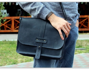 Crossbody Satchel Bag for Men/French Roast Dark Coffee Brown
