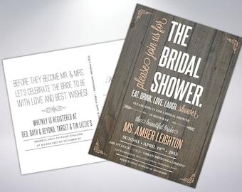 Shower Invitations; Postcard Optional