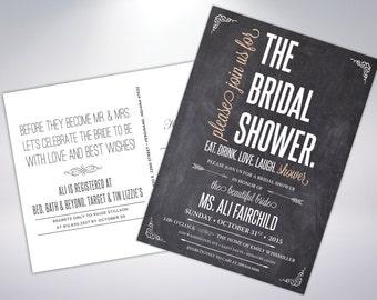 Bridal Shower Invitations; Postcard Optional