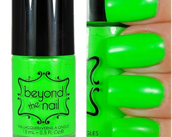 Neon Green Nail Polish - UV Reactive