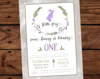 Snow Bunny Invitations