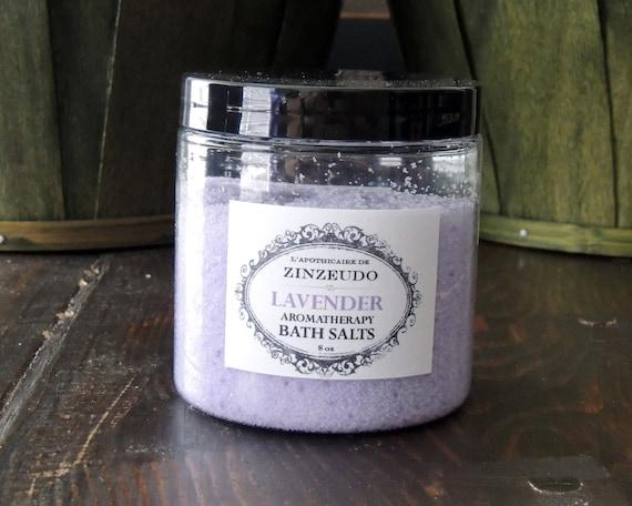 Lavender Aromatherapy Bath Salts 8 Oz