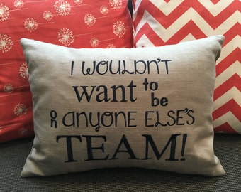 Customizable Throw Pillow with quote