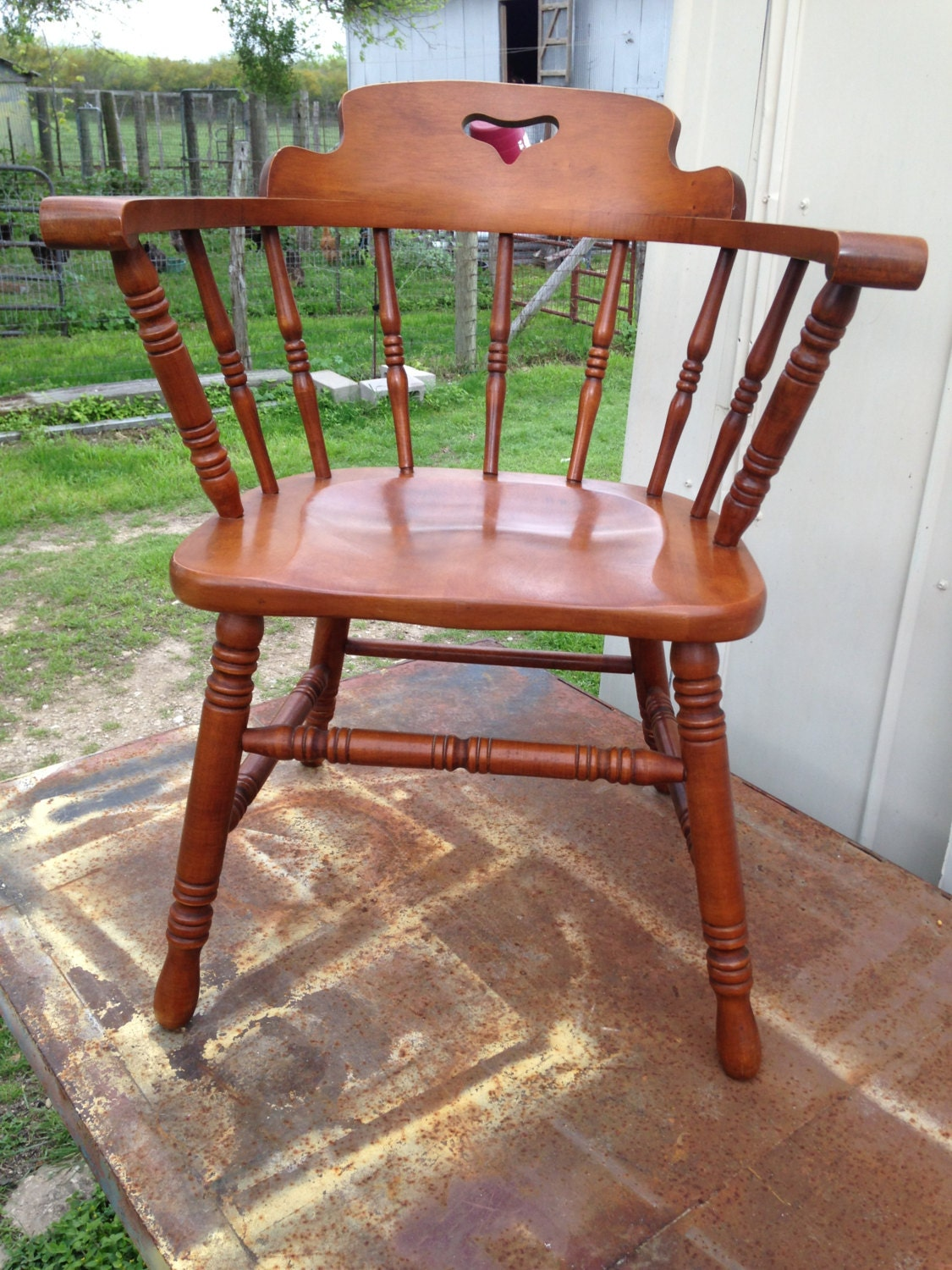 vintage 1950 tell city captain s chair 8008 solid rock