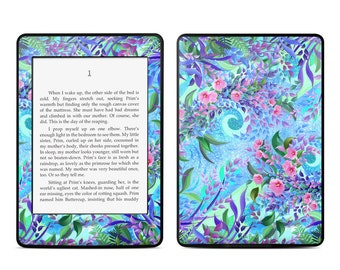 Amazon Kindle Skin - Lavender Flowers by Juleez - Sticker Decal - Fits Paperwhite, Fire, Voyage, Touch, Oasis