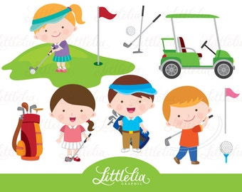 Golf clipart - playing golf clipart - 15105