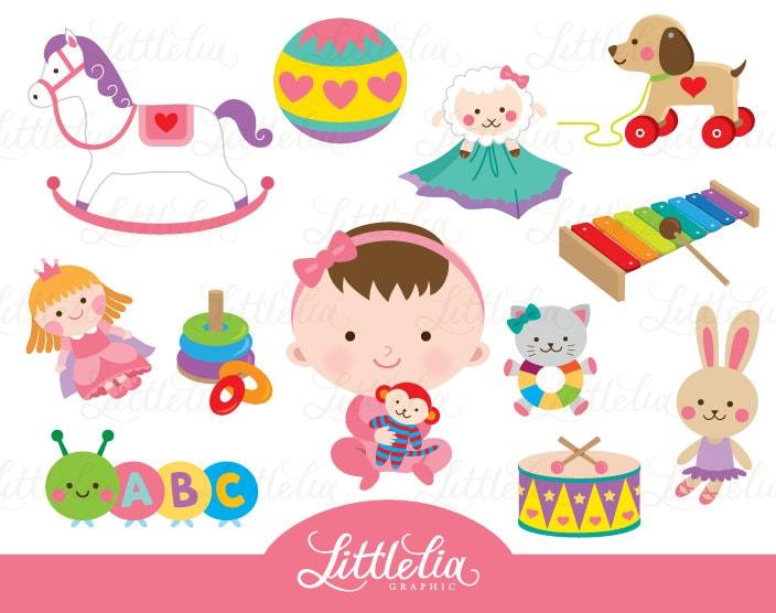 Girl Toys Clip Art : Baby girl toys clipart