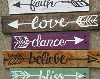 Arrows with words,  Set Of 5