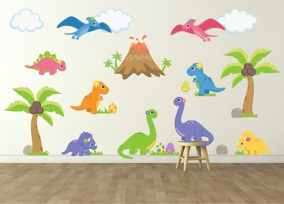 Dinosaur Wall Decal For Kids Bedroom Girls Dinosaur Room